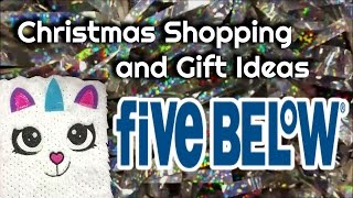 Christmas Shopping & Gift Ideas - Five Below (Follow Me Around)