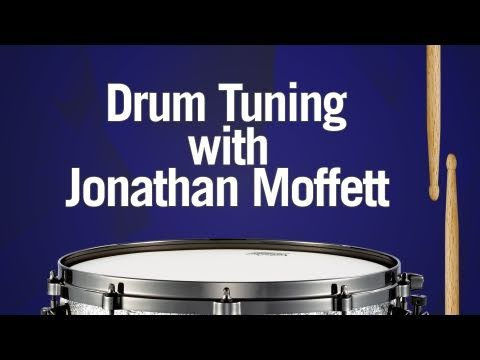 Tuning Drums with Jonathan Moffett drummer for Michael Jackson