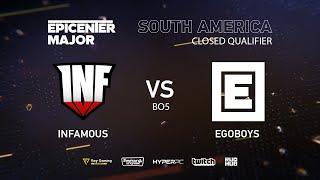 Infamous vs Ego boys, EPICENTER Major 2019 SA Closed Quals , bo3, game 3 [Eiritel]