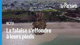 Pays de Galles : elles échappent de peu à un impressionnant glissement de terrain