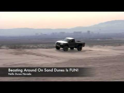 Jumping Tacoma in Ocotello Wells and Nellis Sand D