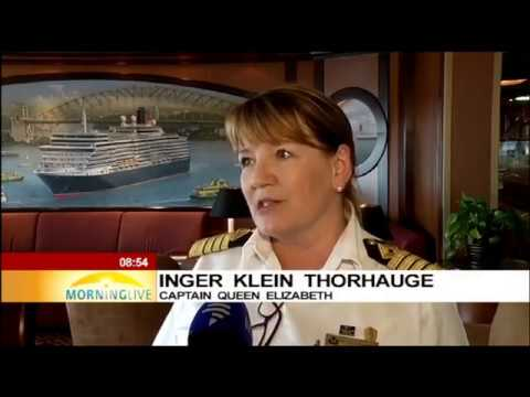 Queen Elizabeth Cruise Ship docked in Cape Town
