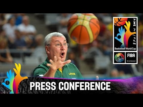 USA v Lithuania - Post Game Press Conference - FIBA 2014 Bas