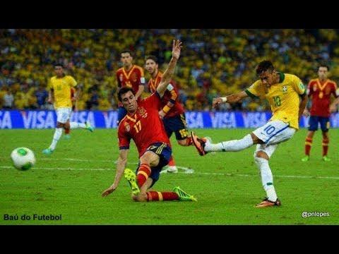 0f6a9042eda69 Brasil 3x0 Espanha (30 06 2013) - Final Copa das Confederações 2013 (Brasil  campeão). Futebol Clássico Seleções