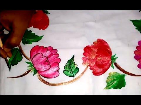 PILLOW COVER DESIGN - GOLDEN WORK By Premlata. Easy Fabric Painting & PILLOW COVER DESIGN - GOLDEN WORK By Premlata - YouTube pillowsntoast.com