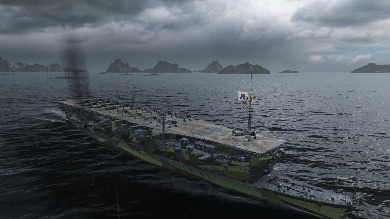world of warships   ryujo gameplay