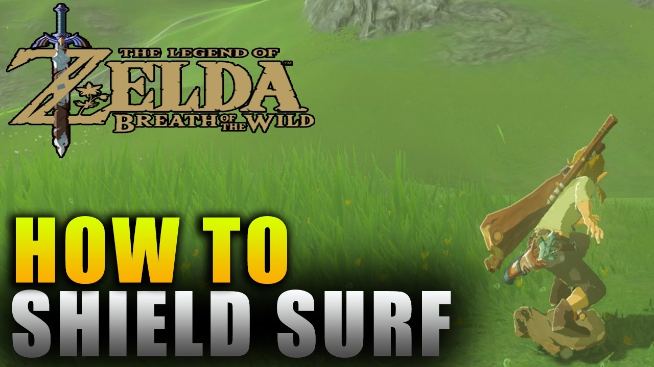 Zelda Breath of the Wild Shield Surfing - How to Shield Surf Down