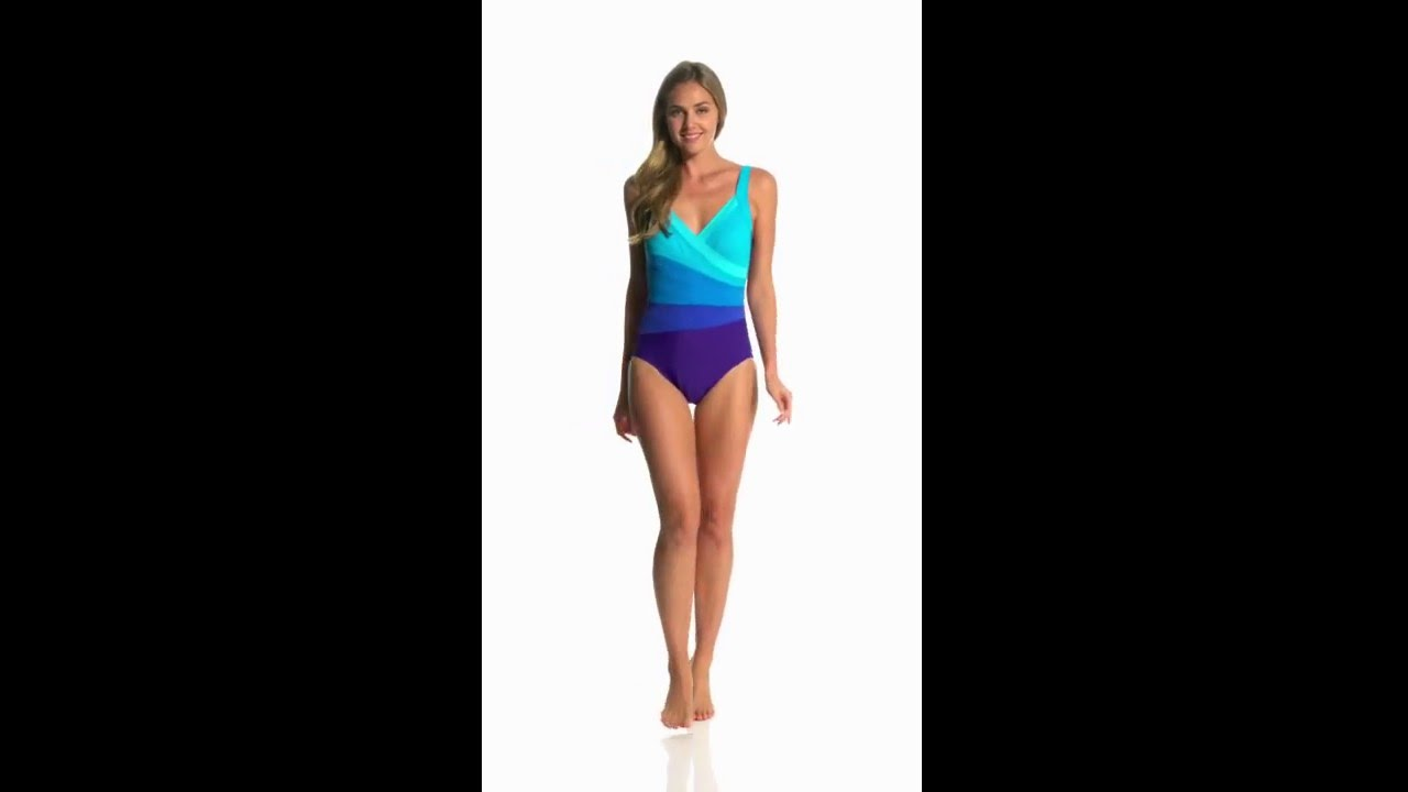 aabb1dc754e Miraclesuit Spectra Band-It Surplice One Piece Swimsuit | SwimOutlet.com