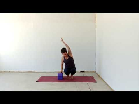 parsva bakasana/side crow on blocks  youtube