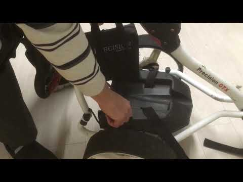 Golf trolley battery cable damage