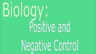 Positive and Negative Control