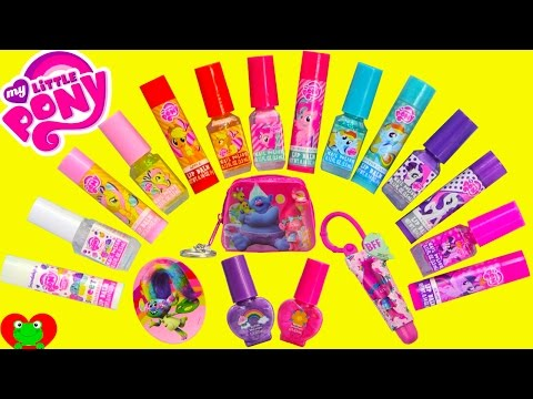 My Little Pony Beauty Set 14 Nail Polishes and Lip Balms with Trolls and Surprises