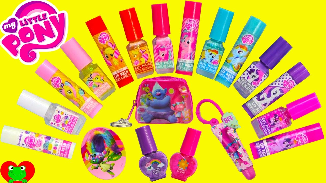 My Little Pony Beauty Set 14 Nail Polishes and Lip Balms with Trolls ...