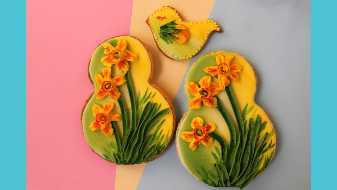 Пряники с цветами Пряники на 8 Марта