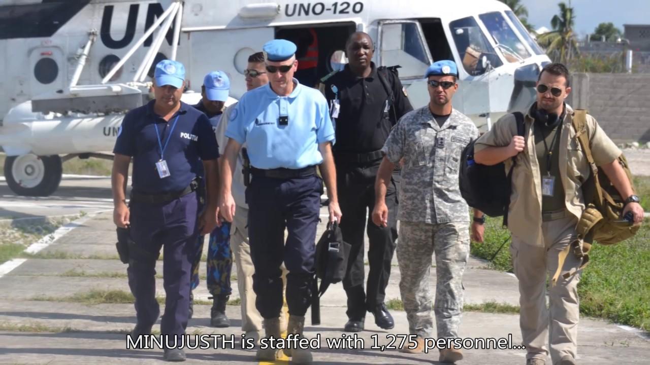 La police des Nations Unies de la Mission en MINUJUSTH