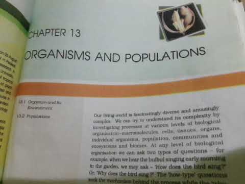 Chapter 13 Organisms and populations class 12th ( NCERT READING ) thumbnail