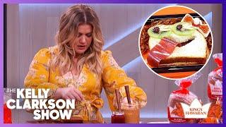 Kelly Clarkson Makes Sandwich Art