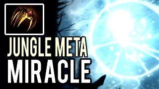 How To Jungle Wisp Io TOP 1 Jungler in The World by Miracle- 9k MMR 7.02 Dota 2