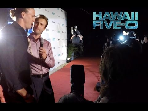 FRONT FLIP ON HAWAII FIVE-0 RED CARPET!
