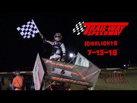 Trail-Way Speedway Highlights 7-13-18