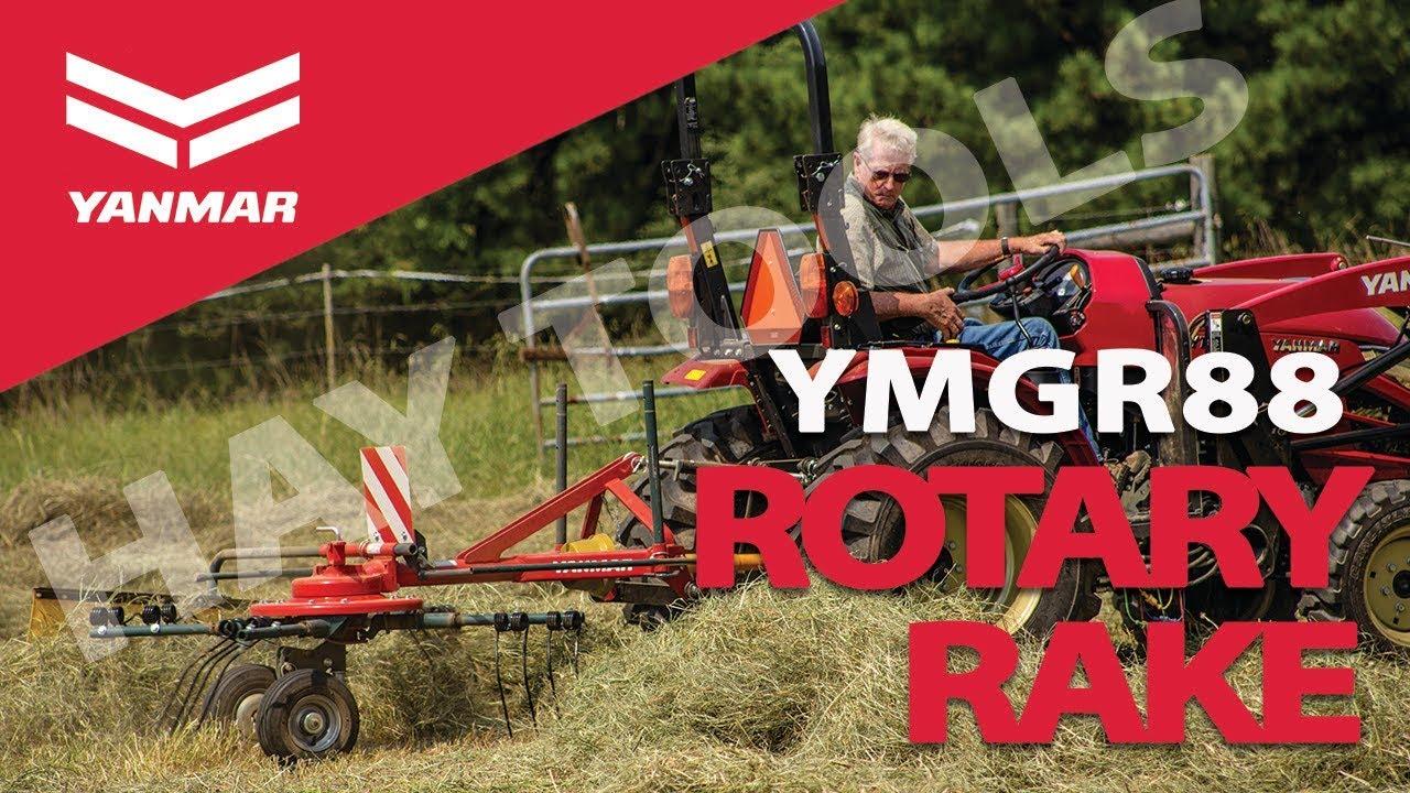 Hay Tools 2: Yanmar YMGR88 Compact 3-in-1 Rotary Rake for Hay Harvest -  Yanmar Tractor