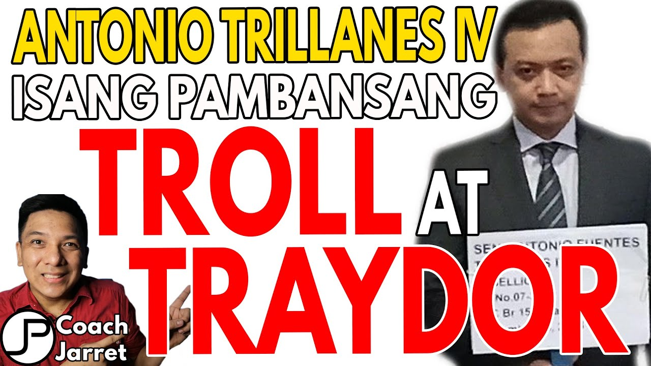 ROBIN PADILLA  TINROLL NI ANTONIO TRILLANES IV | TRILLANES  ISANG PAMBANSANG TROLL AT TRAYDOR