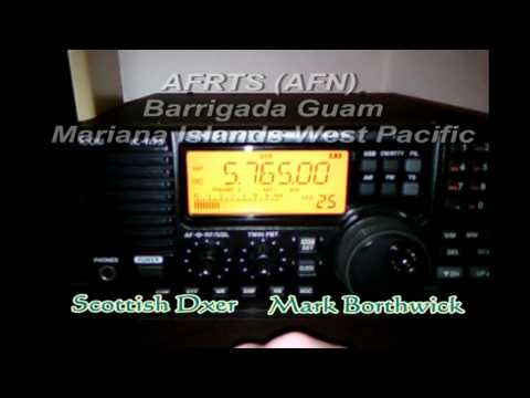 AFRTS Guam Mariana Islands Pacific 5765khz Received in Scotland on Icom R75 and Longwire Antenna