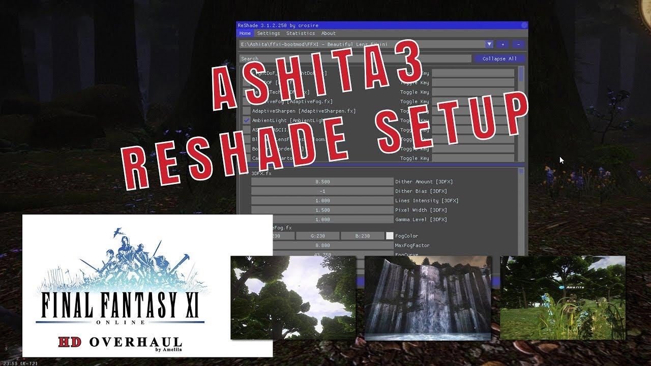 FFXI - Ashita3 - ReShade Setup
