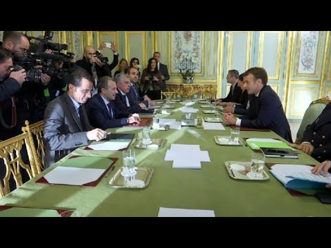 France's Macron meets with Lebanese FM