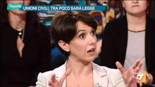 Tagadà - Unioni civili, tra poco sarà legge (Puntata 12/01/2016)