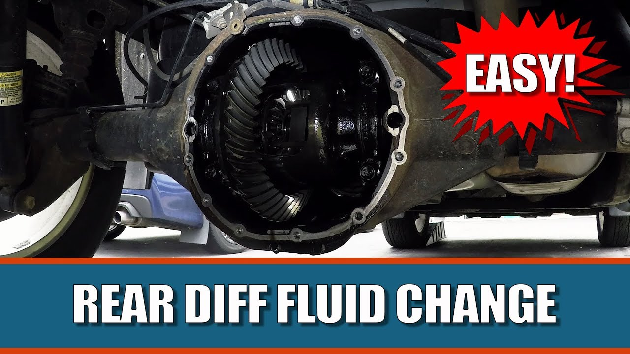 2007 silverado rear differential fluid change