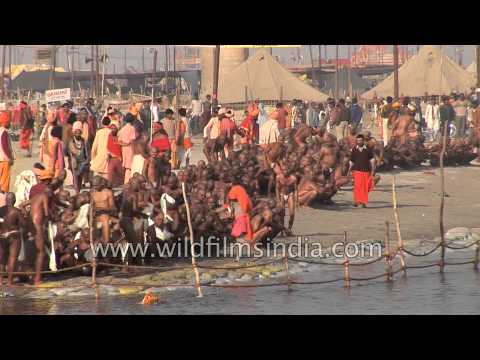 Ritual bathe at the Ganges River - Kumbh Mela