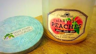 B&bw Candle Review: Harvest Peaches (blast From The Past!)