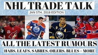 NHL Trade Talk - Habs, Leafs, Oilers, Sabres & Blues