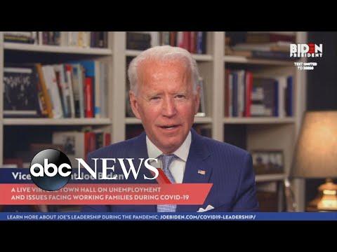 Joe Biden Holds Virtual Town Hall