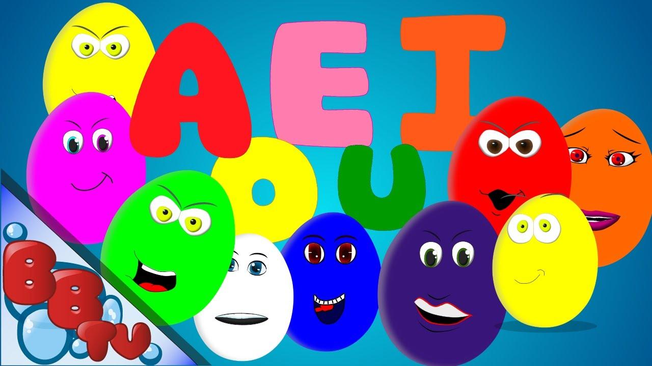 Huevos sorpresa - las vocales en ingles - YouTube