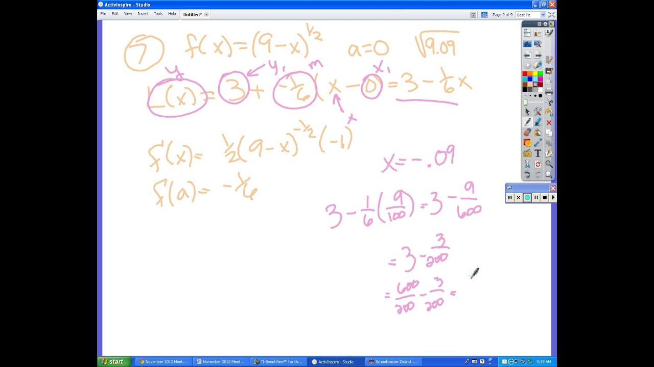 calculus practice test answers chapter 3