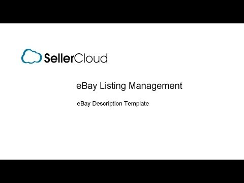 eBay Description Template SellerCloud Documentation – Product Description Template