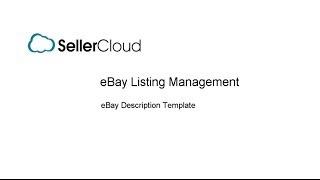 Configuring the eBay Description Template - SellerCloud  - eBay Listing Management - 5.3