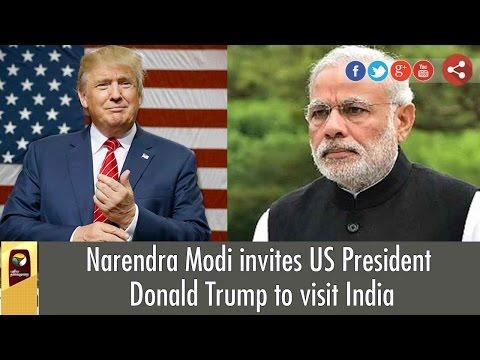 Narendra Modi invites US President Donald Trump to visit India