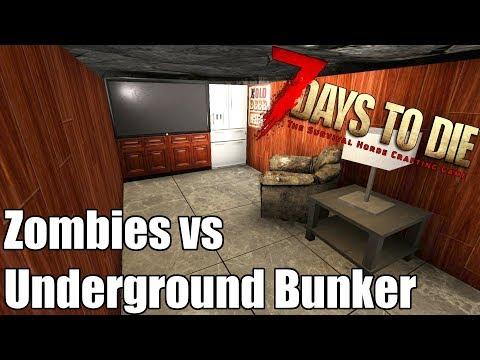 7 Days to Die - Underground Bunker Basics - vs Blood Moon Horde
