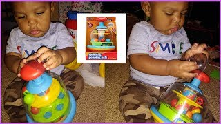 Vlogmas #21 | Play Right Spinning Popping Pals | Baby Toys Review