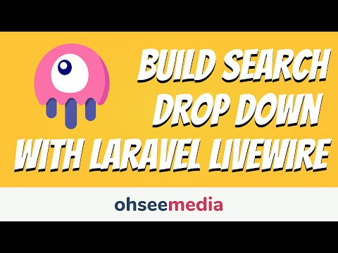 How To Build A Search Drop Down With Laravel Livewire!