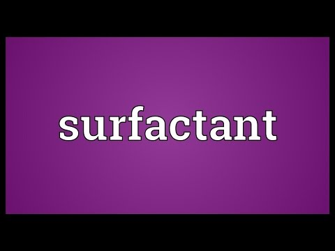 Surfactant Meaning