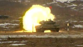 Дрифт 40-тонного танка: в Алабино стартовал «Танковый биатлон» - видео
