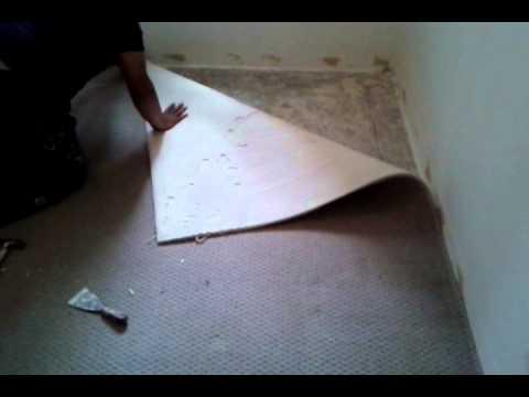 Retirando carpete para o assentado do porcelanato imita madeira portinari parte 1 fabio123