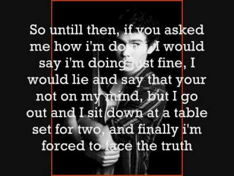 Max Schneider Covering Not Over You by Gavin DeGraw (Lyrics) - YouTube