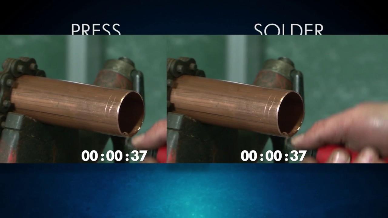 NIBCO® Press Valves vs Soldering Installation on