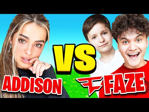Addison Rae Vs FaZe Clan on Fortnite