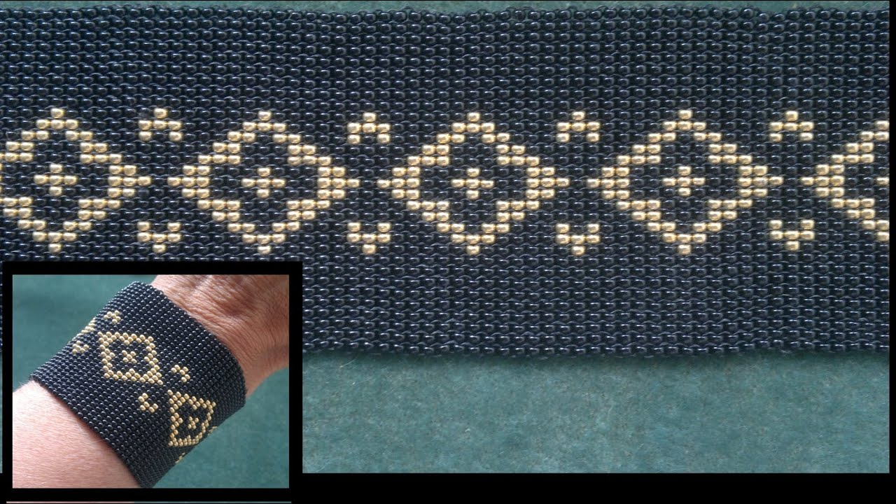Beading4perfectionists stich 4 basic ladder square stich beading4perfectionists stich 4 basic ladder square stich looming without loom beading tutorial youtube baditri Images